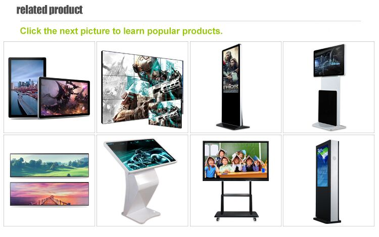 43 inch New Ultra Thin portable advertising screen Vertical digital signage